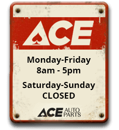 Ace Auto Parts Opening Hours